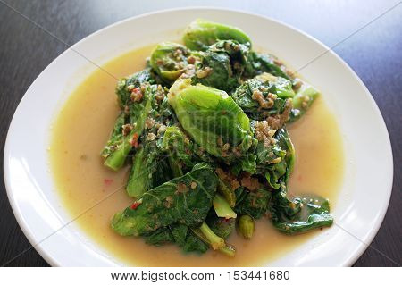 Stir Fried Choy Sum  , Thai cuisine