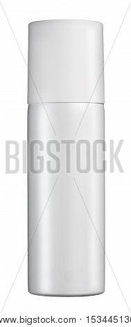Plain White Cylindrical Spray Bottle