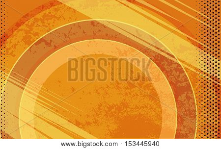 Vector Comic Book Orange Grunge Background. Vector Illustration with Halftone Dots