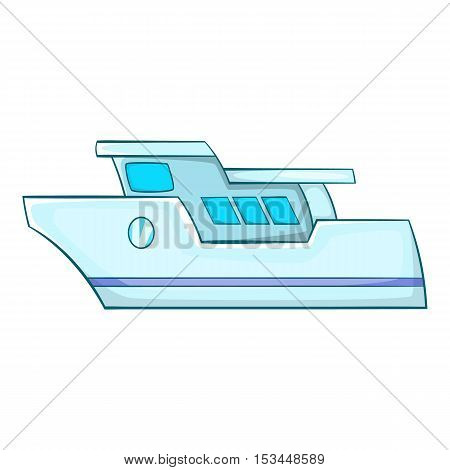 Yacht icon. Cartoon illustration of yacht vector icon for web