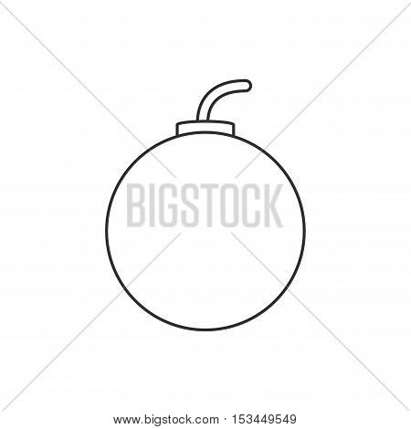 Bomb icon. Explosion military weapon and destruction theme. Isolated design. Vector illustration