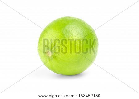 Fresh lime  isolated on white background cutout