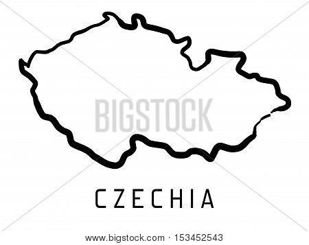 Czechia Map Outline