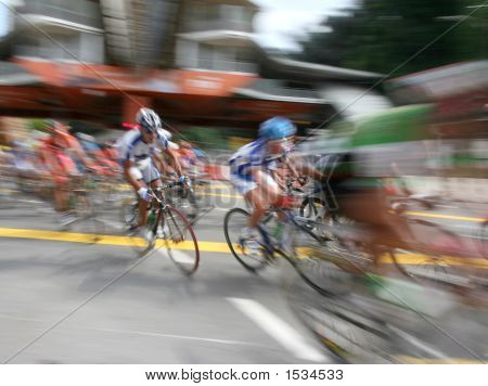 Cyclist In Zoom Action
