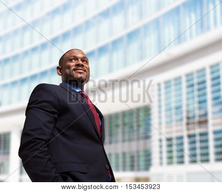 Portrait of a black businessman