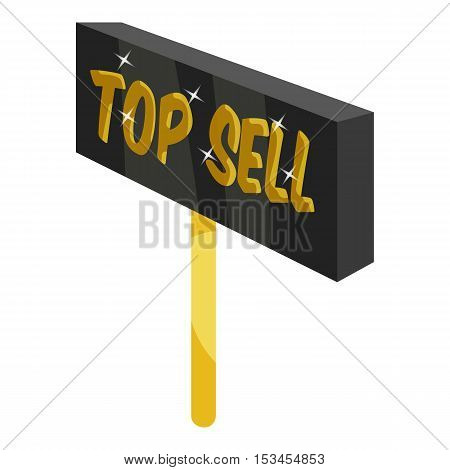 Signpost top sell icon. Cartoon illustration of signpost top sell vector icon for web
