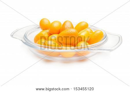 kumquat (cumquat) isolated on white background cutout