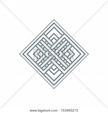 Linear arabic ornament. Vector emblem for logos and decorative design