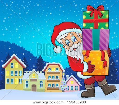 Santa Claus topic image 9 - eps10 vector illustration.