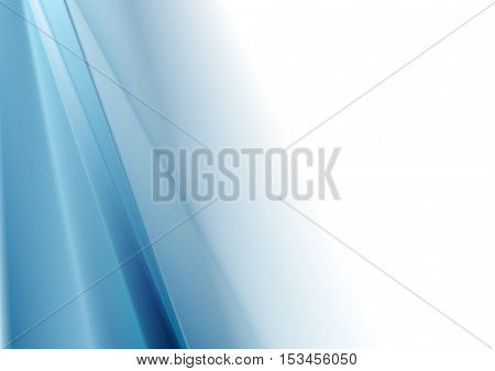 Bright blue white gradient abstraction corporate vector design