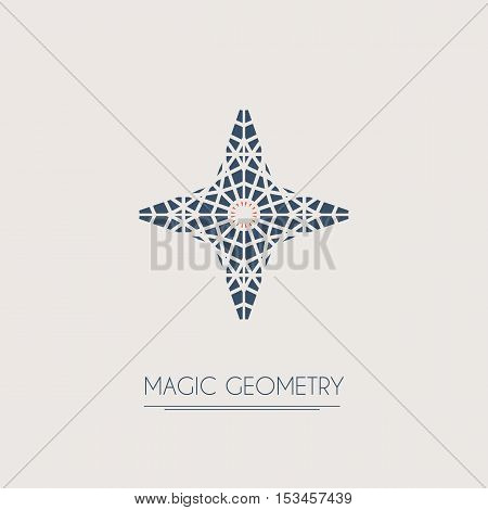 Geometric logo template. Vector modern star symbol or emblem