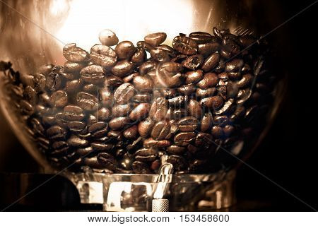 Coffee Beans in a jar at cafe
