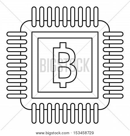 Chip icon. Outline illustration of chip vector icon for web
