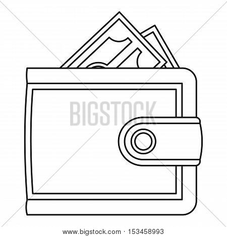 Leather purse icon. Outline illustration of leather purse vector icon for web
