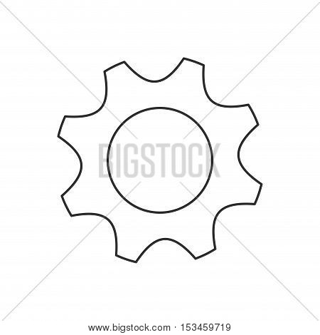 Gear icon. Machine part technology industry and wheel theme. Isolated design. Vector illustration
