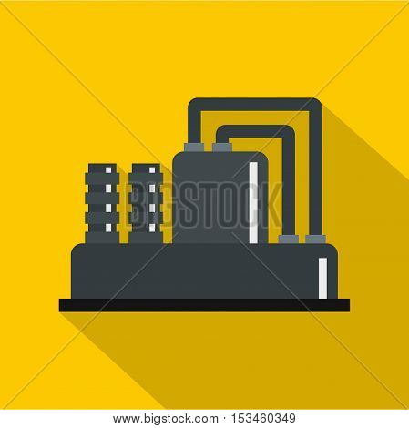 Equipment for production oil icon. Flat illustration of equipment for production oil vector icon for web