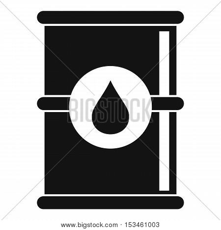 Barrel of oil icon. Simple illustration of barrel of oil vector icon for web