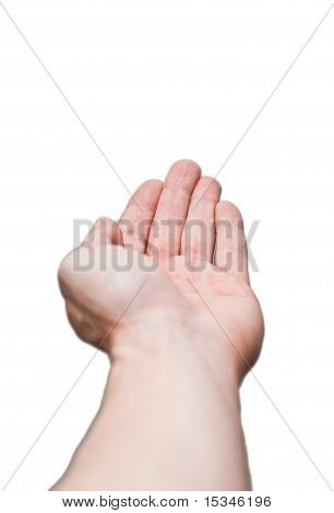 Giving, Receiving Hand Isolated On White Background