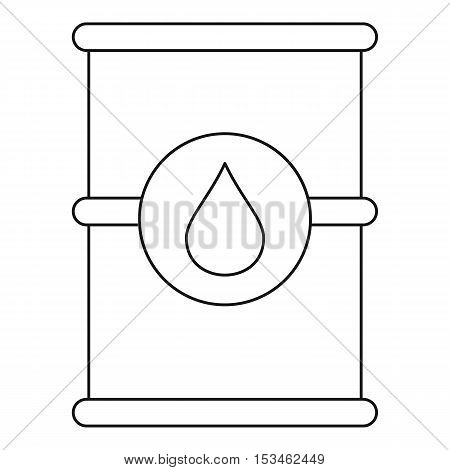 Barrel of oil icon. Outline illustration of barrel of oil vector icon for web