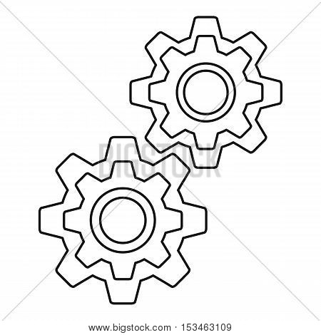 Gear icon. Outline illustration of gear vector icon for web