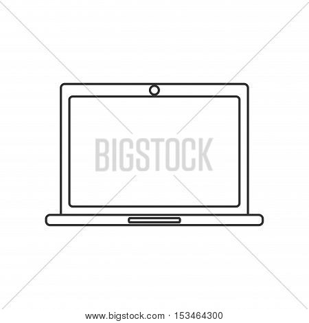 Laptop icon. device gadget technology theme. Isolated design. Vector illustration