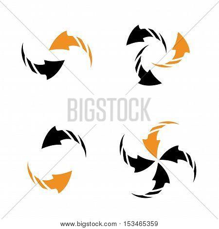 Vector set of arrows on white background - illustration