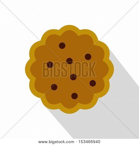 Cookies icon. Flat illustration of cookies icon for web