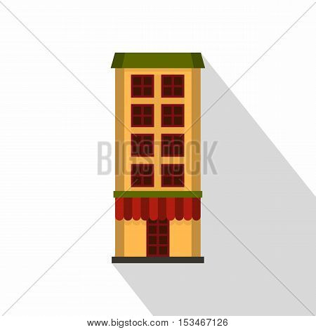 Shop icon. Flat illustration of shop icon for web