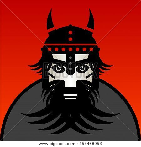 Viking warrior sign or symbol , vector illustration
