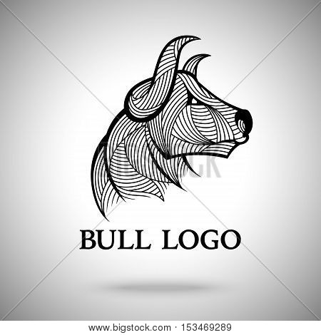 Vector Bull logo template for sport teams, business brands etc.
