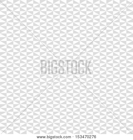 Geometric vector pattern with light gray and white triangles. Seamless abstract background