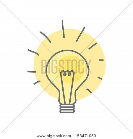 Lamp isolated on white background. Video marketing. Approaches, methods and measures to promote products and services based on video. Online video, internet technology and media social marketing