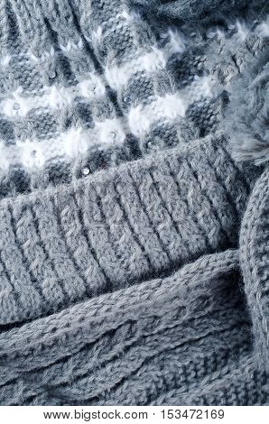 Close Up Of Folded Knitwear