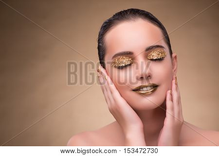 Young woman with elegant makeup