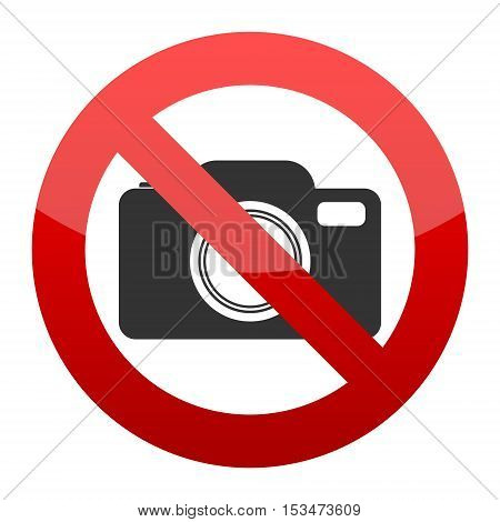 No photo camera sign on white background