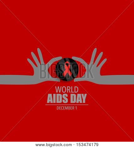 World AIDS Day. 1st December World Aids Day poster. Vector illustration.