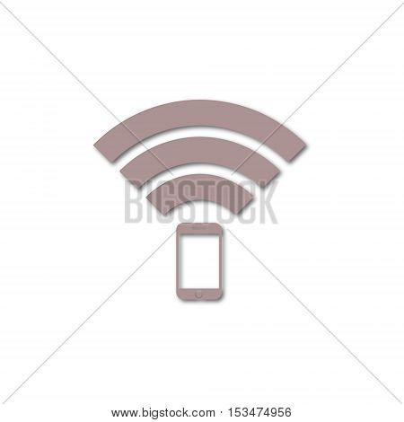 Signal symbol,Wireless, wifi icon on white background