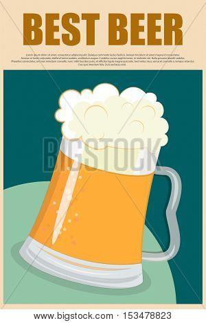 Poster Best Beer Poster style beer mug
