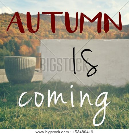 Autumn Is Here Inspirational Message