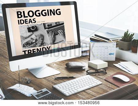 Blogging Ideas Content Connecting Vision Web Concept