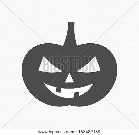 Halloween pumpkin black flat icon simple illustration