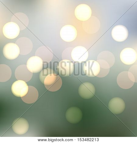 Vector sparkling bokeh illustration. Beautiful background for your design. EPS10