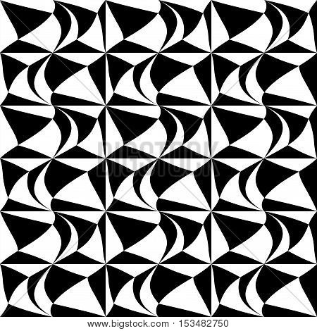 Abstract geometric black and white graphic design print pattern