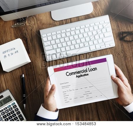 Commercial Loan Business Support Concept