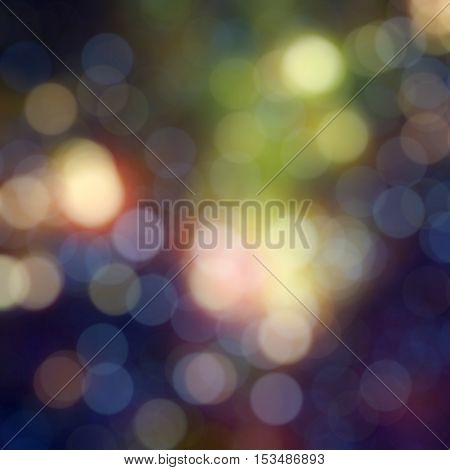 Colorful bokeh background. DEfocused lights of different colors