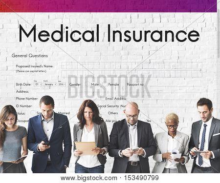 Medical Insurance Health Form Concept