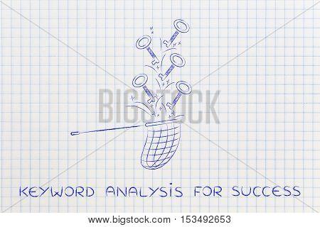 Keywords To Reach Success, Butterfly Net Catching Keys