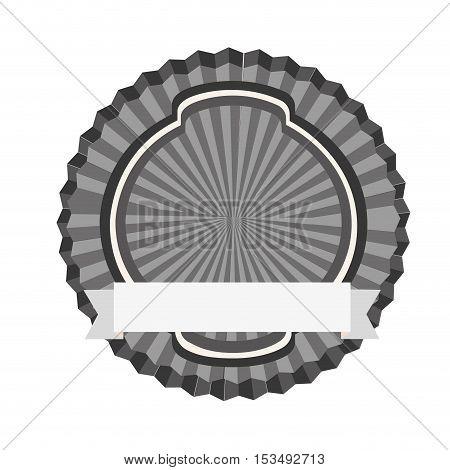 grey tones emblem or label icon image vector illustration design