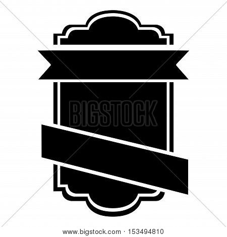 black and white emblem or label icon image vector illustration design