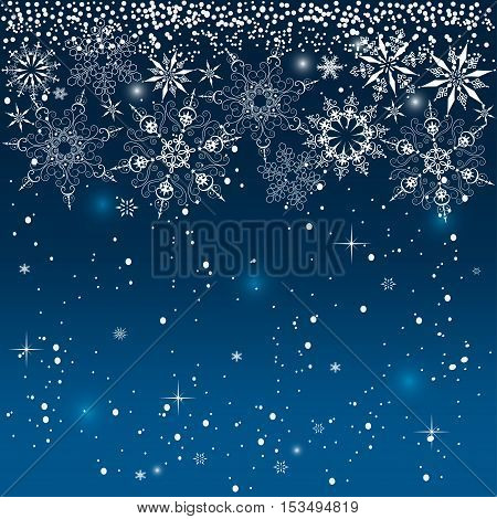 Elegant Christmas background with snowflakes. New year and Christmas greetings design